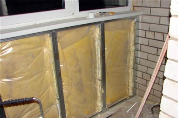 теплоизоляция балкона внутри