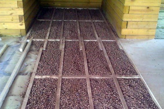 утепления деревянного пола керамзитом