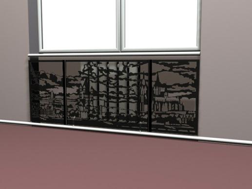 металлические панели для декорации радиаторов