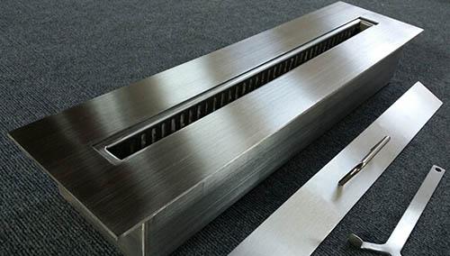 металлический топливный бак для бытового камина