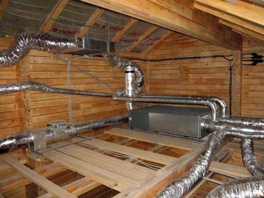 утепление воздуховодов на чердачном этаже